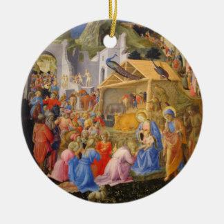 Ornamento De Cerâmica Bebê Jesus Joseph dos reis Virgem Maria do