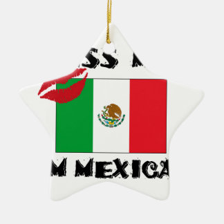 Ornamento De Cerâmica beije-me que eu sou mexicano