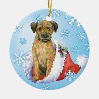 Ornamento De Cerâmica Beira feliz Terrier de Howliday