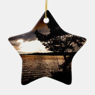 Ornamento De Cerâmica Beira-rio de outubro