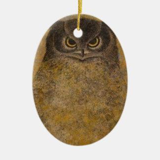 Ornamento De Cerâmica Belas artes do japonês da coruja
