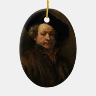 Ornamento De Cerâmica Belas artes do retrato de auto de Rembrandt Van