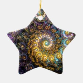 Ornamento De Cerâmica Beleza do fractal do nautilus