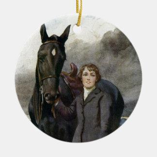 Ornamento De Cerâmica Beleza preta - escolheu-me para seu cavalo