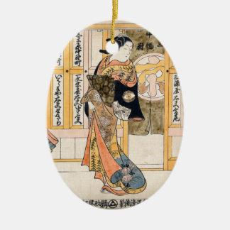 Ornamento De Cerâmica Belezas do triptych de três capitais