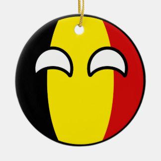 Ornamento De Cerâmica Bélgica Geeky de tensão engraçada Countryball
