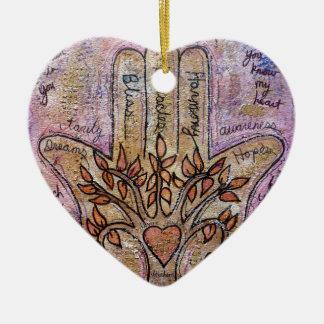 Ornamento De Cerâmica Bênçãos