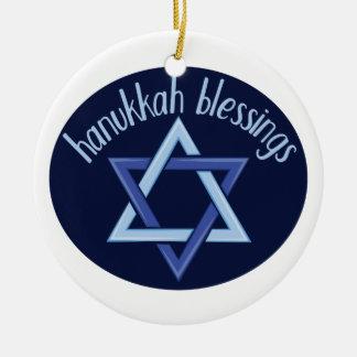 Ornamento De Cerâmica Bênçãos de Hanukkah