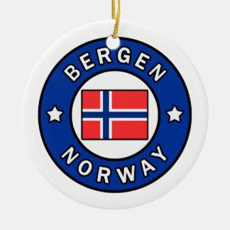 Ornamento De Cerâmica Bergen Noruega