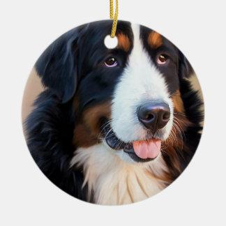 Ornamento De Cerâmica Berner Sennenhund