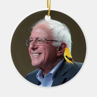 Ornamento De Cerâmica Bernie e pássaro