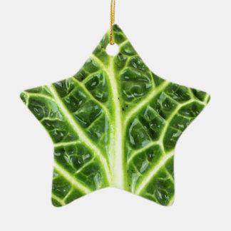 Ornamento De Cerâmica Berza chou couve-de-milão Savoy cabbage vert