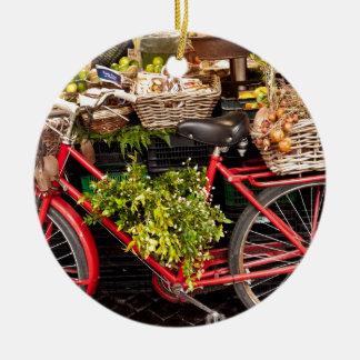 Ornamento De Cerâmica Bicicleta da colheita