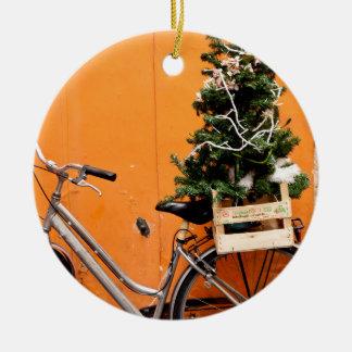Ornamento De Cerâmica Bicicleta do Natal