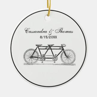 Ornamento De Cerâmica Bicicleta do vintage construída para