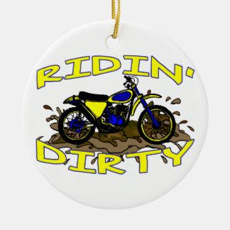Ornamento De Cerâmica Bicicleta suja da sujeira de Ridin na lama