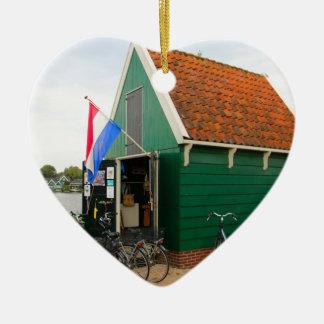 Ornamento De Cerâmica Bicicletas, vila holandesa do moinho de vento,
