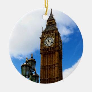 Ornamento De Cerâmica Big Ben frente e verso