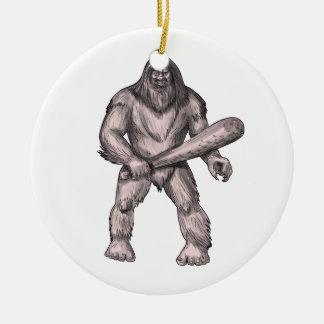 Ornamento De Cerâmica Bigfoot que guardara o tatuagem ereto do clube