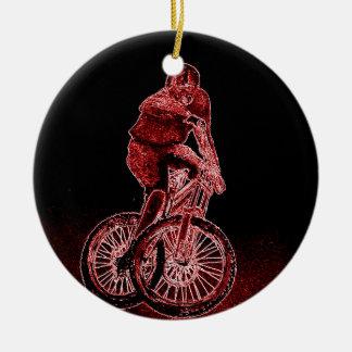 Ornamento De Cerâmica Biking da montanha