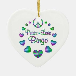 Ornamento De Cerâmica Bingo do amor da paz