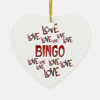 Ornamento De Cerâmica Bingo do amor do amor