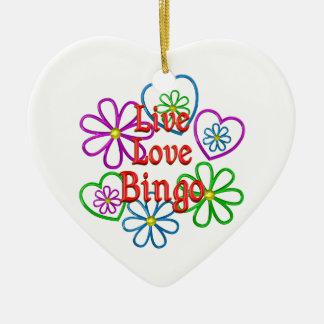 Ornamento De Cerâmica Bingo vivo do amor