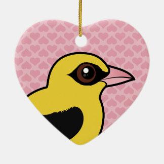 Ornamento De Cerâmica Birdorable Oriole dourado euro-asiático