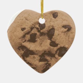 Ornamento De Cerâmica Biscoito dos pedaços de chocolate