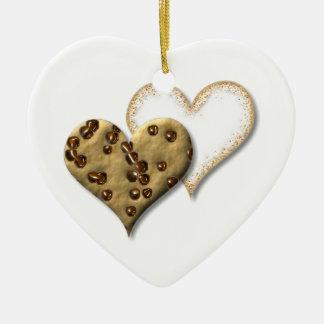 Ornamento De Cerâmica Biscoitos dos pedaços de chocolate e de açúcar