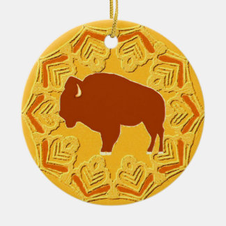 Ornamento De Cerâmica Bisonte americano
