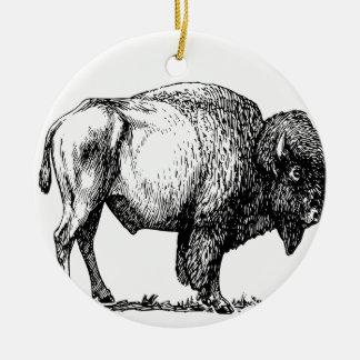 Ornamento De Cerâmica Bisonte americano do búfalo