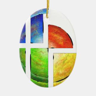 Ornamento De Cerâmica Blessinia - sol colorido