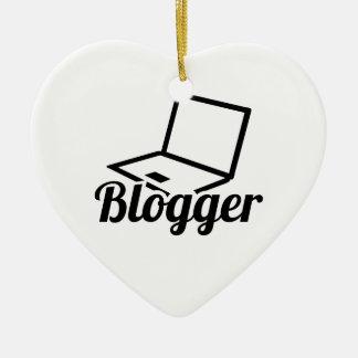 Ornamento De Cerâmica Blogger