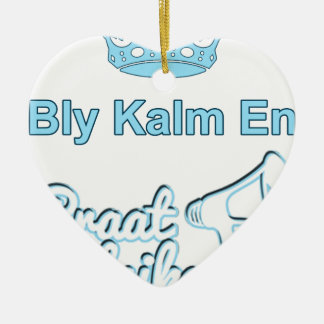 Ornamento De Cerâmica Bly-Kalm-En-Praat-Holandês sul-africano