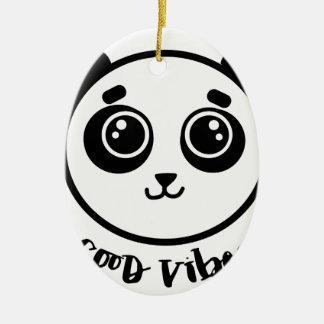 Ornamento De Cerâmica Boa panda das impressões