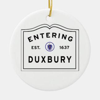 Ornamento De Cerâmica Boa vinda à cidade de MÃES de Duxbury