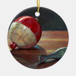 Ornamento De Cerâmica Bobber e Sinker