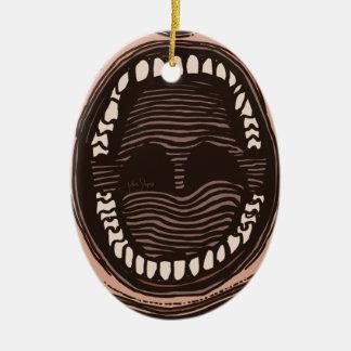 Ornamento De Cerâmica Boca grande