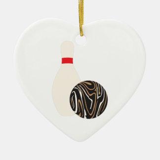 Ornamento De Cerâmica Bola de boliche de Duckpin