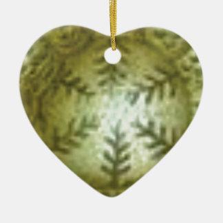 Ornamento De Cerâmica bola de creme com samambaias