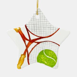 Ornamento De Cerâmica Bola de tênis Sketch2