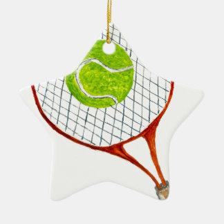 Ornamento De Cerâmica Bola de tênis Sketch3