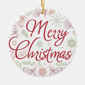 Ornamento De Cerâmica Bola do Feliz Natal