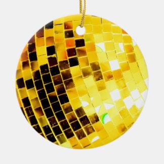 Ornamento De Cerâmica Bola Funky do disco do ouro