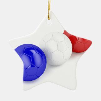 Ornamento De Cerâmica Bolas do futebol com a bandeira de France
