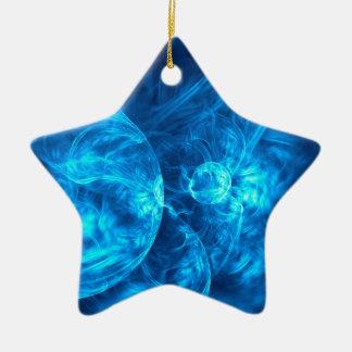Ornamento De Cerâmica bolhas azuis