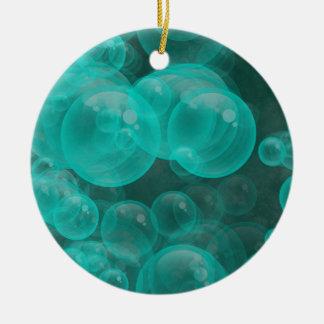 Ornamento De Cerâmica bolhas brincalhão de turquesa verde