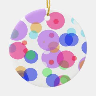 Ornamento De Cerâmica Bolhas coloridas