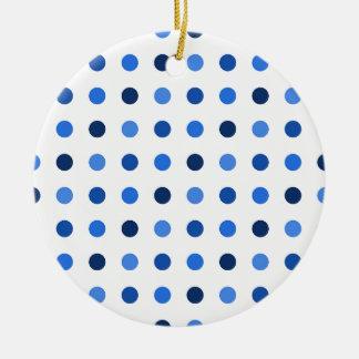 Ornamento De Cerâmica Bolinhas azuis